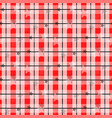 red tartan with star tartanplaid pattern vector image