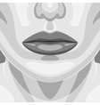 retro portrait beauty vampire woman face vector image vector image