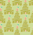 Sandcastle Seamless pattern vector image