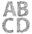 set of letters a b c and d vector image vector image