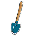 shovel hand drawn design on white background vector image vector image