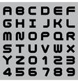 Smooth Alphabet Set vector image vector image