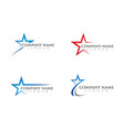 star logo template vector image vector image