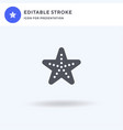 Starfish icon filled flat sign solid