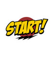 start word text with thunder greeting theme vector image vector image
