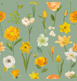 summer yellow flowers watercolor background vector image vector image