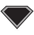 super hero black vector image vector image