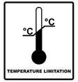 Temperature limits Cargo signs Temperature vector image vector image