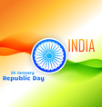 tri color indian flag design for republic day vector image vector image