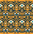 tribal ethnic flower texture ikat fabric vector image