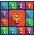 Trophy flat icons vector image vector image