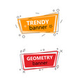 two trendy geometric banners vector image vector image