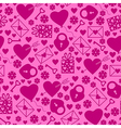 val pattern magenta vector image vector image