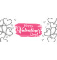 valentines day horizontal banner vector image