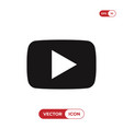 video play button icon vector image vector image