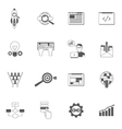 Web Icons Black Set vector image