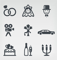 Wedding icon set vector | Price: 1 Credit (USD $1)