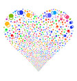 weight fireworks heart vector image vector image