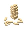 Wood game Wooden blocks eps vector image