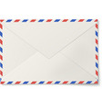 Sealed air mail white envelope isolated vector image