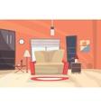 Living room cartoon eps 10 vector image