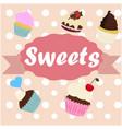 menu desserts vector image