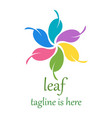 6 leaf logo template design vector image