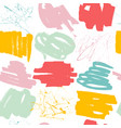 Abstract seamless pattern with hand drawn shapes