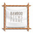 bamboo frame template good for tropical vector image