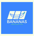banana slash logo vector image