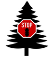 bark-beetle stop sign vector image vector image