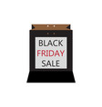 black friday shopping discount bags vector image