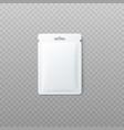 blank package or foil sachet mockup vector image vector image