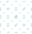 cell icons pattern seamless white background vector image vector image