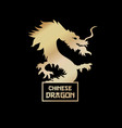 chinese dragon silhouette hand drawn vector image vector image