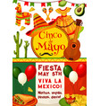 cinco de mayo viva mexico fiesta party invitation vector image vector image