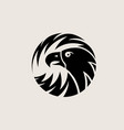 circle eagle logo vector image