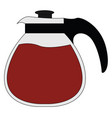 coffee maker on white background vector image vector image