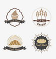 collection of vintage retro bakery logo badges vector image vector image