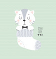 cute cat sitting in sock vector image