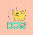 cute dog funny caricature animal cartoon vector image