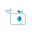 Cute Dolphin logo vector image