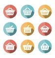 e-shop basket flat icons vector image