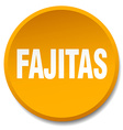fajitas orange round flat isolated push button vector image vector image