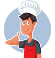 fast food chef with thumbs up doing ok sign vector image vector image