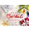 feliz navidad y prospero ano nuevo merry vector image vector image