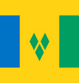 flag of saint vincent and the grenadines vector image vector image