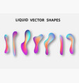 fluid shape layout isolated template set colorful vector image
