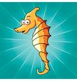 funny cartoon seahorse vector image