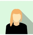 Girl with blond hair icon flat style vector image